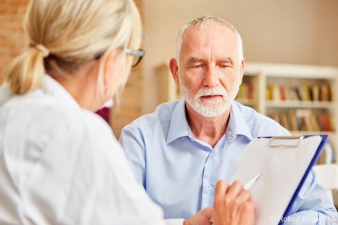 Patient im Gespräch