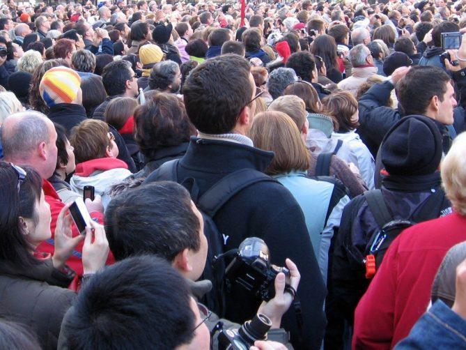 human, audience, mass