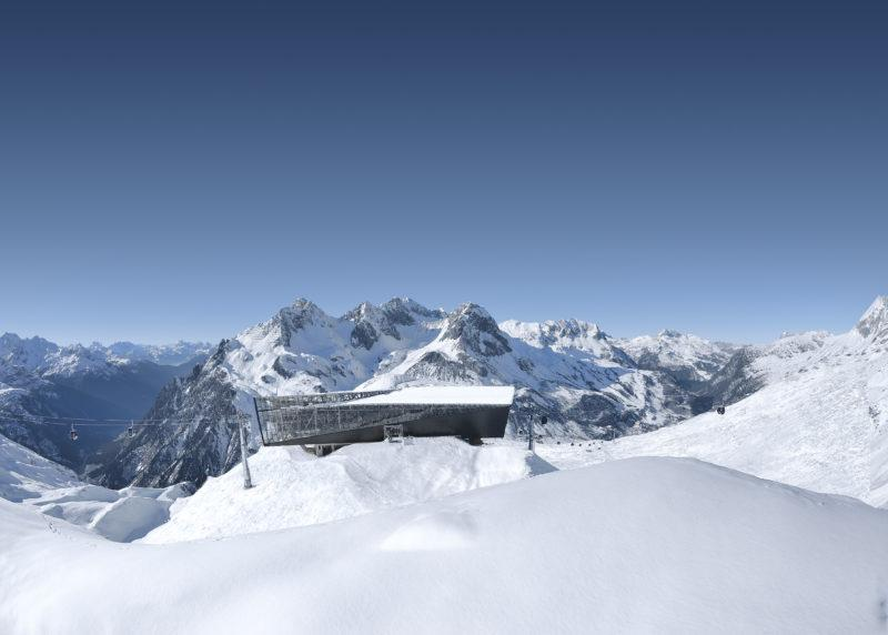 Lech Zürs am Arlberg: Bergstation Flexenbahn - Mittelstation Trittkopfban (c) Ski Arlberg