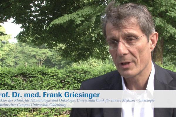 Prof. Dr. F. Griesinger, Oldenburg, umreißt Aspekte zur Immuntherapie bei Lungenkrebs