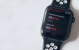 Apple Watch 4 - Messung der Herzfrequenz