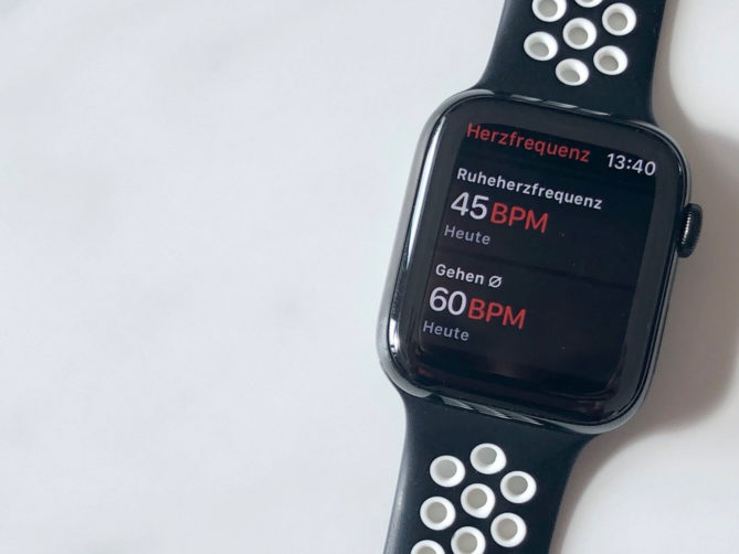 Apple Watch 4 - Messung der Herzfrequenz