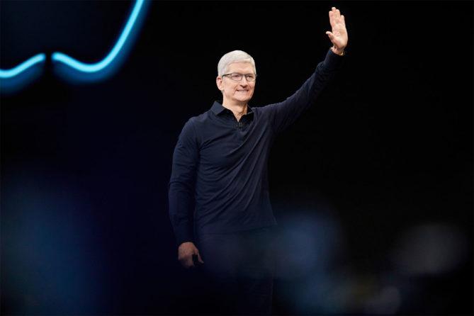 Apple WWDC 2019 - Tim Cook auf der Bühne