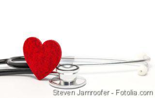 Herz mit Stetoskop