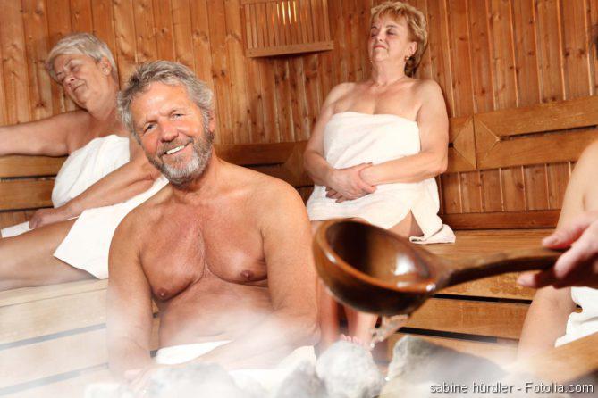 Mit einer Erkältung in die Sauna