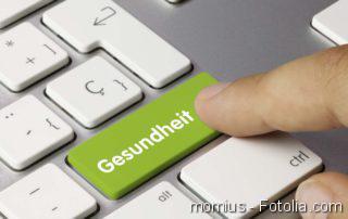 Tastatur mit dem Wort Gesundheit auf einer Taste