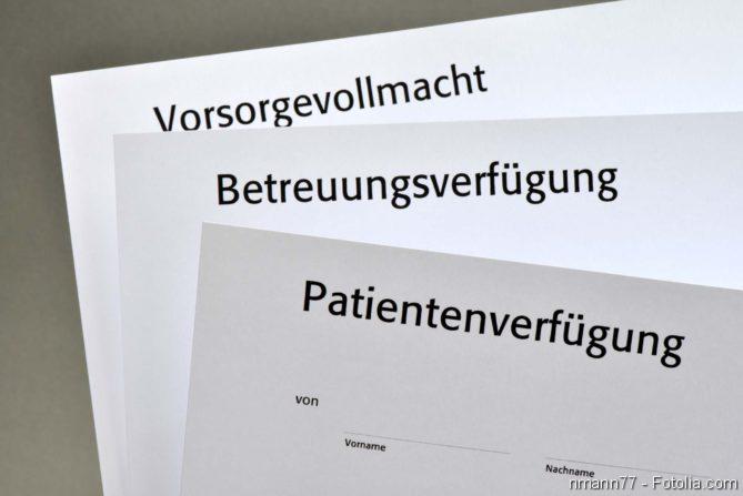 Patientenwille, Patientenverfügung